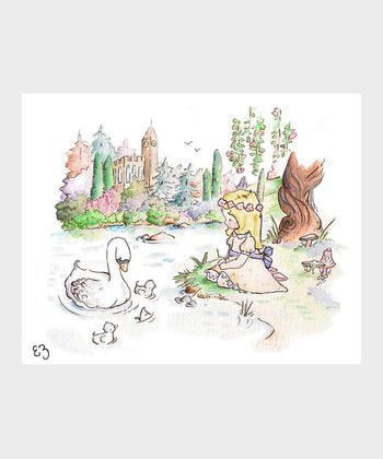 Blonde-Haired Swan Princess Print