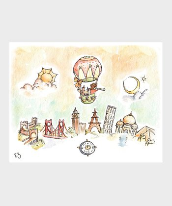 Boy Hot Air Balloon Print