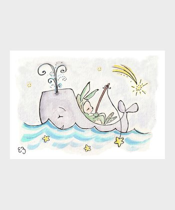 Star Fishing at Sea Print