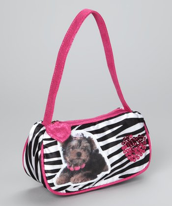Pink Zebra Dog Purse