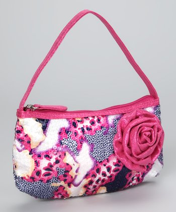 Fuchsia Sequin Animal Print Purse