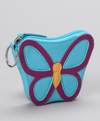 Lu Lu Blue Butterfly Coin Purse