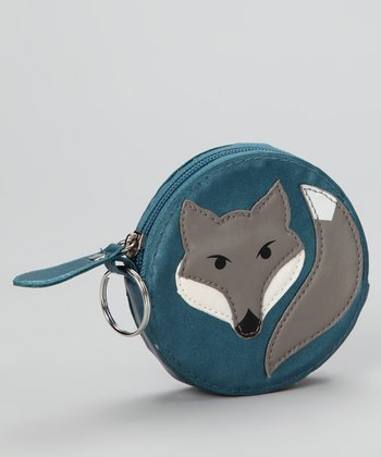 Lu Lu Blue Wolf Coin Purse