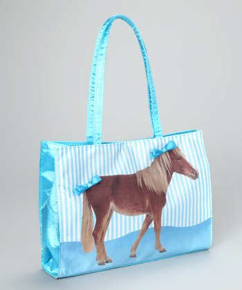 Turquoise Pretty Pony Purse