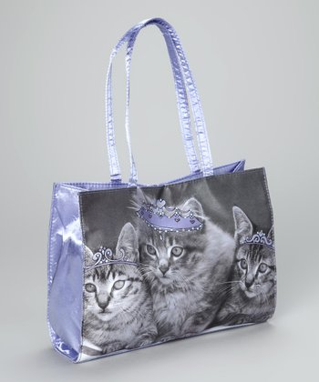 Purple Kitten Queen Purse