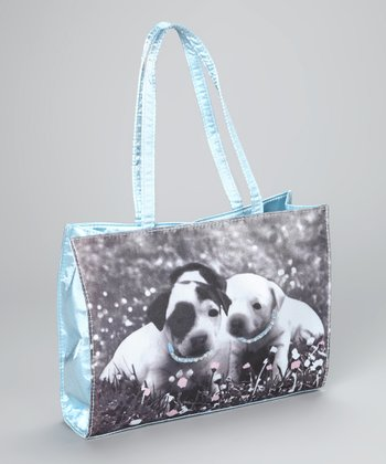 Turquoise Bling Puppy Purse
