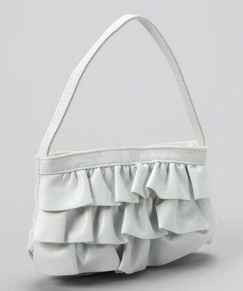 Lu Lu White Ruffle Purse