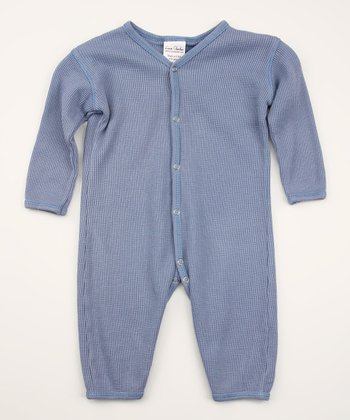 Cloudy Blue Organic Thermal Playsuit - Infant