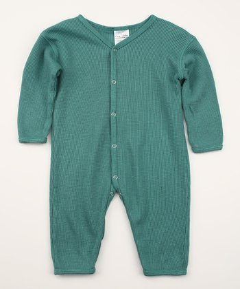 Emerald Green Thermal Playsuit - Infant