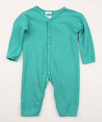 Horizon Blue Thermal Organic Playsuit - Infant