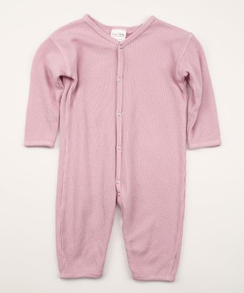 Spicy Pink Thermal Playsuit - Infant