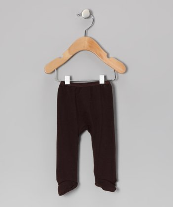 Brown Footie Pants - Infant