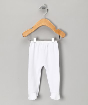 White Footie Pants - Infant