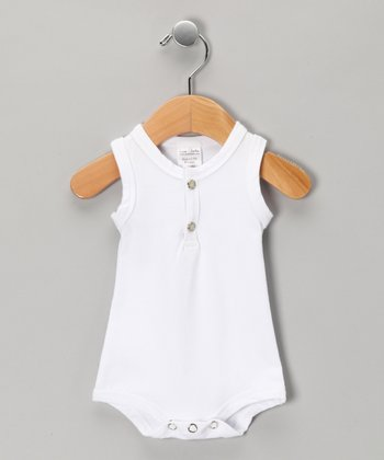 White Sleeveless Bodysuit - Infant