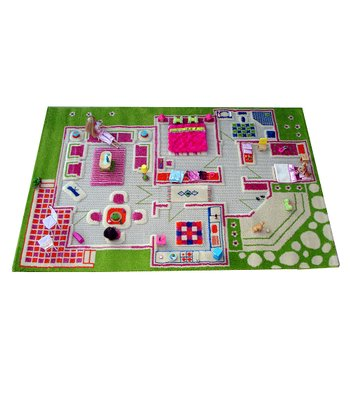 Luca and Company Green Playhouse Rug