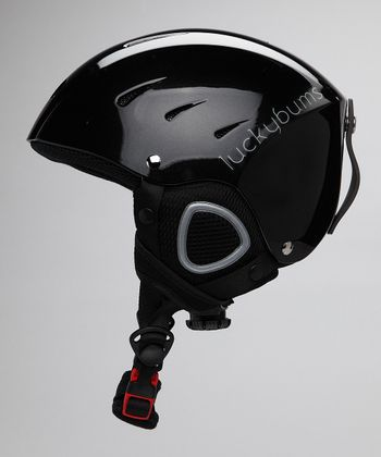 Metallic Black Fleece-Lined Helmet