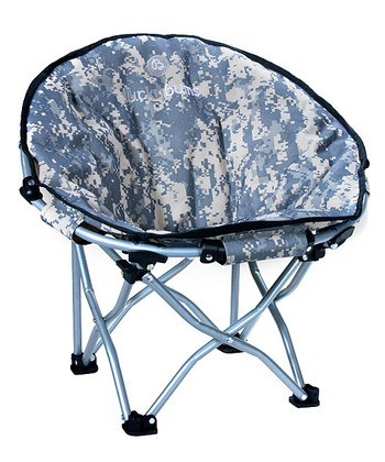 Blue Camo Moon Camp Chair