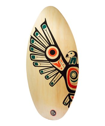 Black & Green Eagle Wood Skim Board