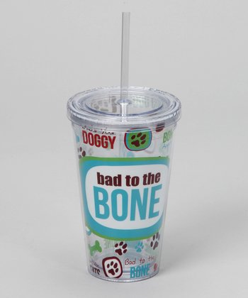 'Bad to the Bone' Tumbler & Straw