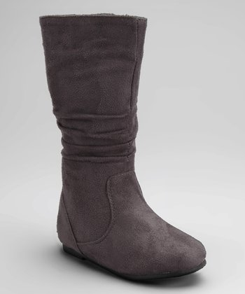 Gray Data High Boot