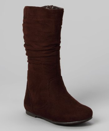 Brown Data High Boot