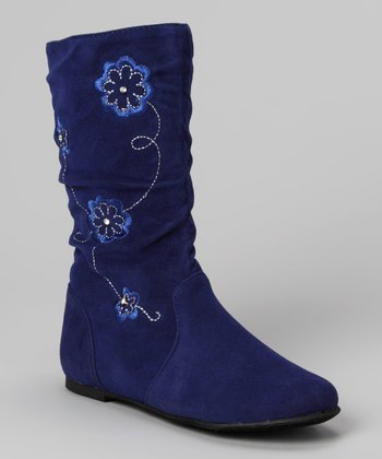 Blue Data Flower Boot