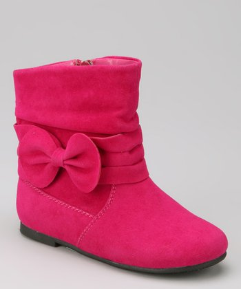Fuchsia Post Bow Boot - Toddler