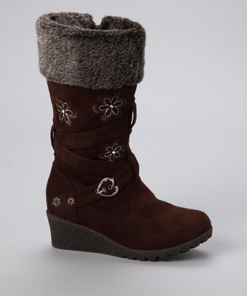 Brown Floral Pure Boot