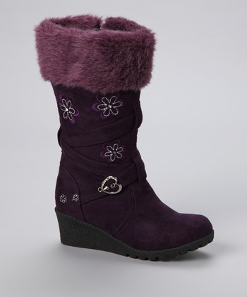 Purple Floral Pure Boot