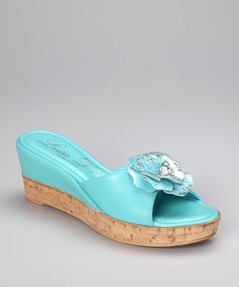 Turquoise Flower Sunshine Slide