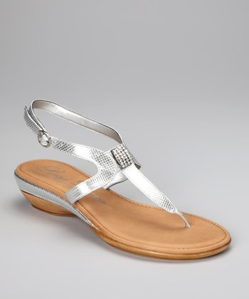 Silver Moonlight Ankle-Strap Sandal