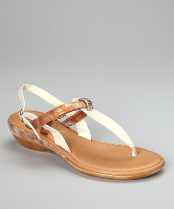 Natural Metallic Margarita Ankle-Strap Sandal