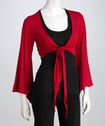 Luna Claire Red Zen Shrug