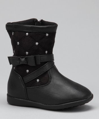 Luna Shoes Black Studded Boot