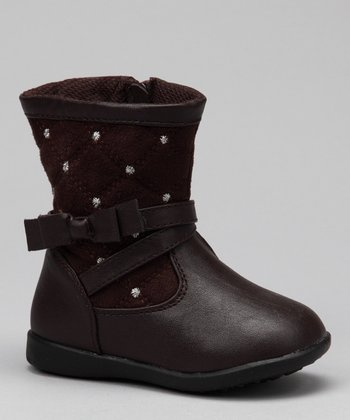Luna Shoes Brown Studded Boot
