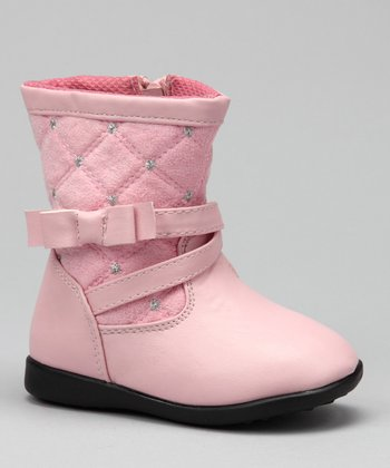Luna Shoes Pink Studded Boot
