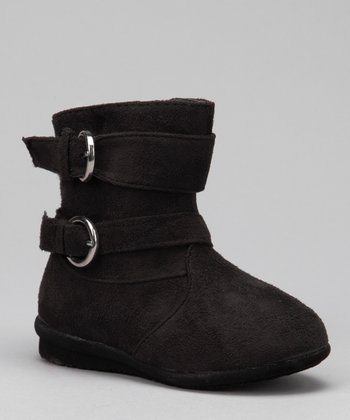 Luna Shoes Black Buckle Boot