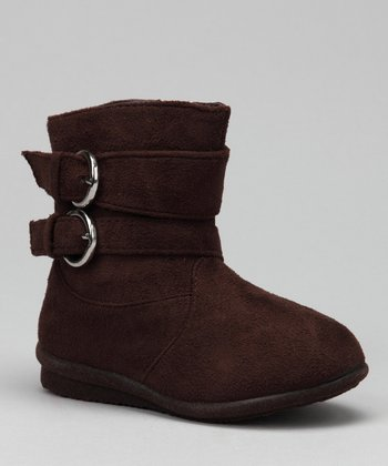 Luna Shoes Brown Buckle Boot