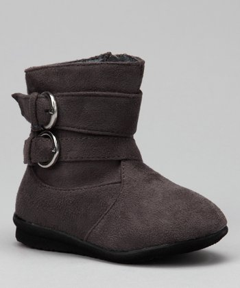 Luna Shoes Gray Buckle Boot