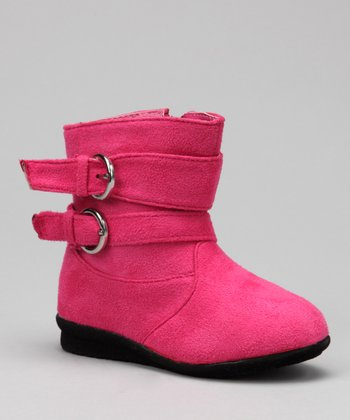 Luna Shoes Peach Buckle Boot
