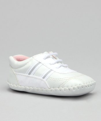 White Double Stripe Sneaker