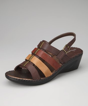 Brown Lady 17 Wedge Sandal