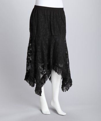 Black Handkerchief Skirt