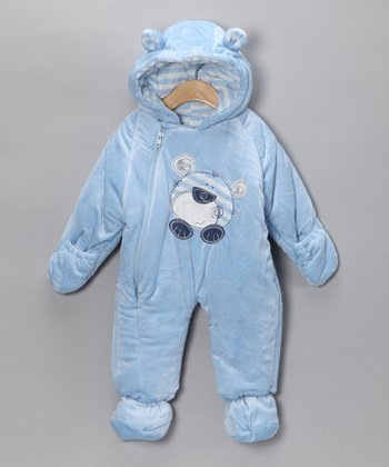 Light Blue Bear Bunting