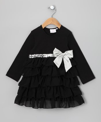 Black Tiered Dress - Infant & Toddler