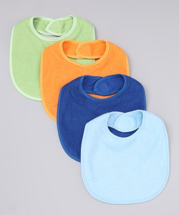Blue & Orange Waterproof Bib Set