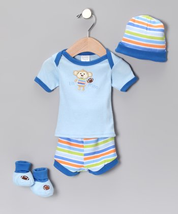 Blue Monkey 'Lil Man' Tee Set