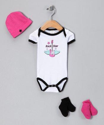 Luvable Friends Pink 'Rock Star' Bodysuit Set