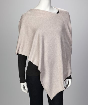 Cream Oatmeal Ever Poncho - Women & Plus