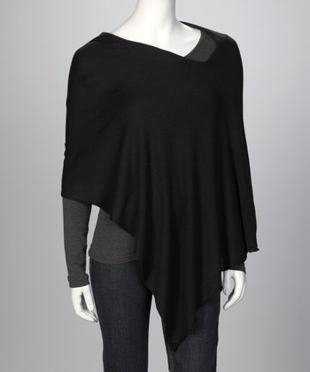 Black Ever Cashmere-Blend Poncho - Women & Plus